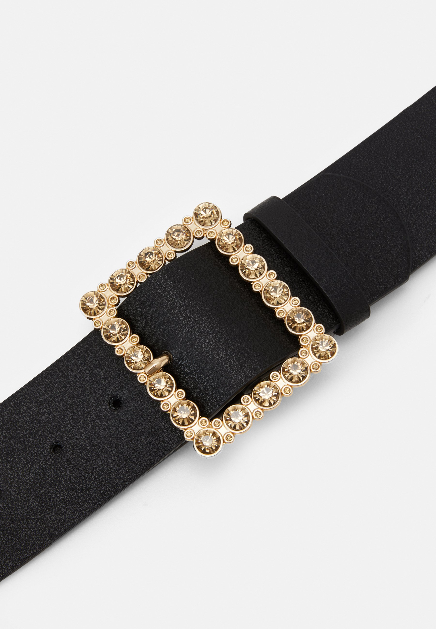 Pieces PCNILLA WAIST BELT - Midjebelte - black/gold-coloured/svart QG6w6UpcognPK0n