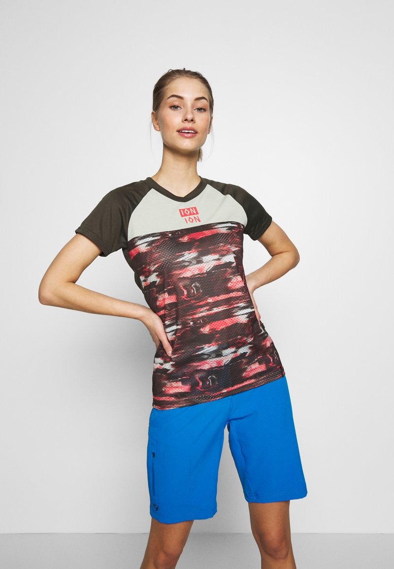 ION - TEE SCRUB AMP DISTORTION  - T-shirt z nadrukiem - root brown