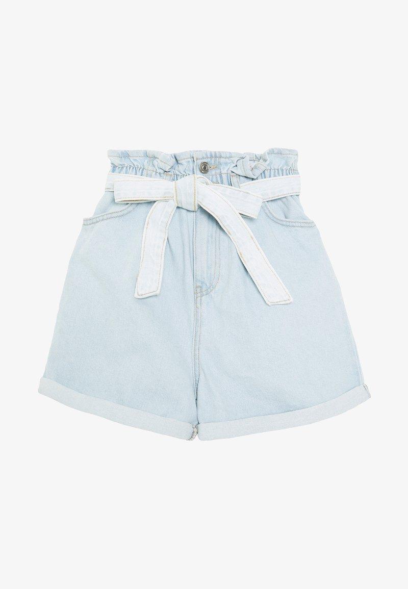 New Look - FREDDIE PAPERBAG - Jeansshorts - blue