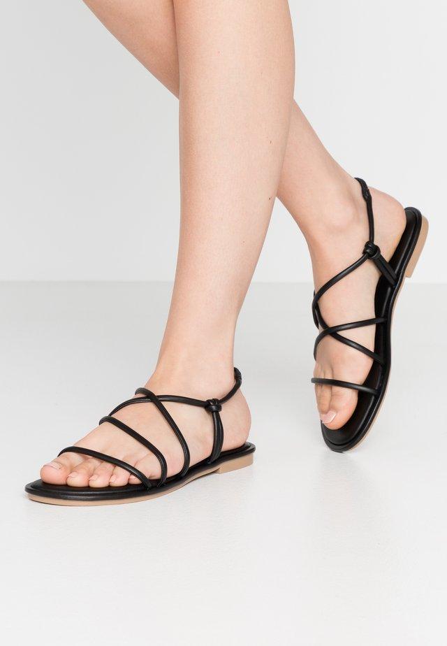 NEDRA - Sandaalit nilkkaremmillä - black