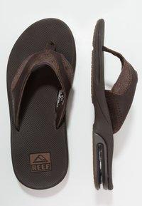 Reef - FANNING - Sandály s odděleným palcem - brown - 1