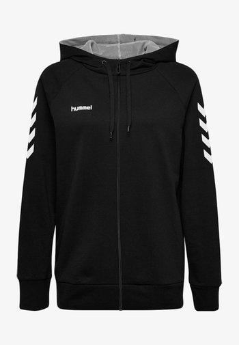HMLGO - Zip-up sweatshirt - black