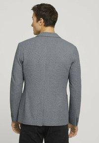 TOM TAILOR - Blazer jacket - grey melange structure - 2