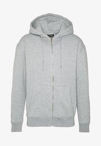 JJESOFT ZIP HOOD - Mikina na zip - light grey melange/relaxed