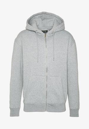 JJESOFT ZIP HOOD - Collegetakki - light grey melange/relaxed