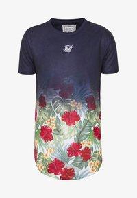 CURVED HEM FADE TEE - T-shirt med print - navy
