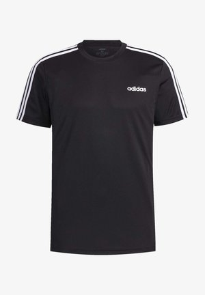 DESIGNED 2 MOVE 3-STRIPES T-SHIRT - T-shirt z nadrukiem - black
