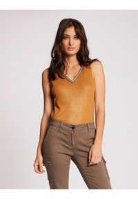 Morgan - WITH LARGE STRAPS AND STRIP - Top - ochre - 0