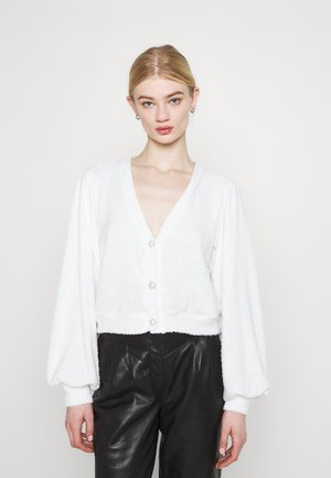 SLOUCHY FLUFFY - Cardigan - white