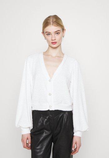 SLOUCHY FLUFFY - Cardigan - white