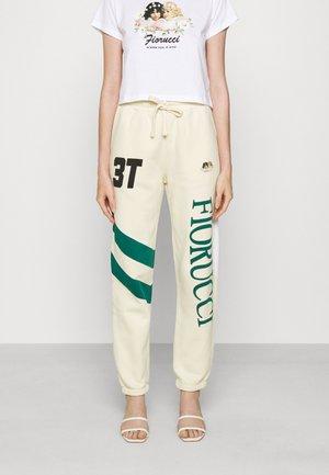VINTAGE LOGO STRIPE JOGGERS - Pantalon de survêtement - white