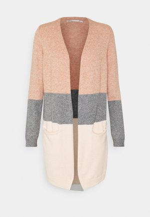 ONLQUEEN LONG CARDIGAN  - Chaqueta de punto - misty rose/medium grey melange/cloud pink melange