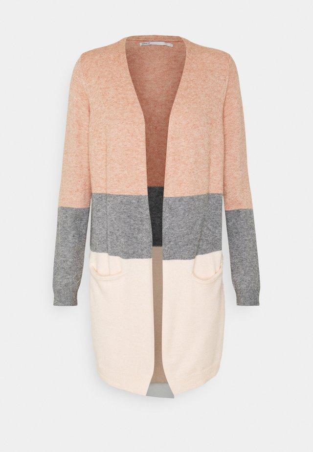 ONLQUEEN LONG CARDIGAN  - Cardigan - misty rose/medium grey melange/cloud pink melange