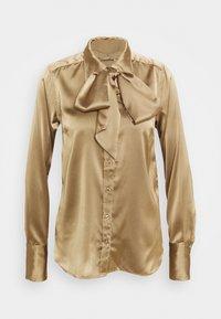 Herrlicher - NICOLA 2 TONE - Button-down blouse - latte macchiato - 0