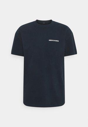 CIRCLE FOIL GRAPHIC - Print T-shirt - navy