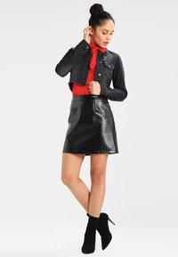 Urban Classics - SHORT JACKET - Denim jacket - black washed - 1