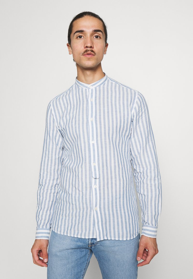 Springfield - MAO STRIPE - Shirt - medium blue