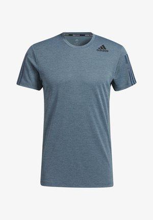 H.RDY 3S TEE - Print T-shirt - blue