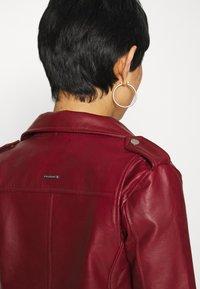 Deadwood - RIVER - Leather jacket - burgundy - 5