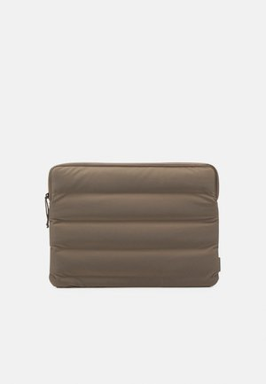 LAPTOP COVER QUILTED UNISEX - Laptop bag - velvet taupe