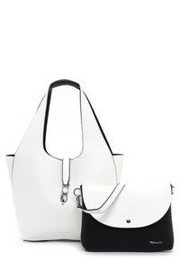 Tamaris - CORDULA SET - Handbag - white/black - 3