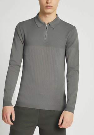MUSCLE FIT  - Polo shirt - grey
