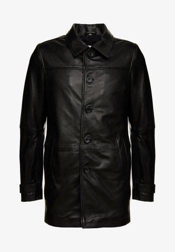 HARRY - Kožená bunda - black
