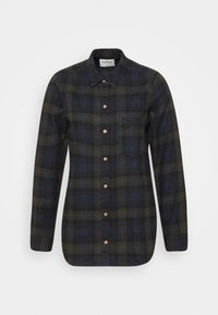 Abercrombie & Fitch - HOLIDAY - Button-down blouse - dark green/navy - 5