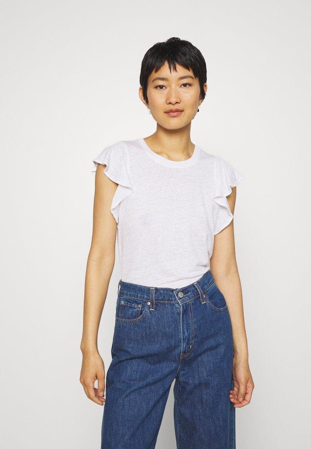 FLUTTER SLEEVE - Basic T-shirt - white