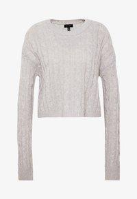 New Look - BASIC - Jersey de punto - light grey - 4