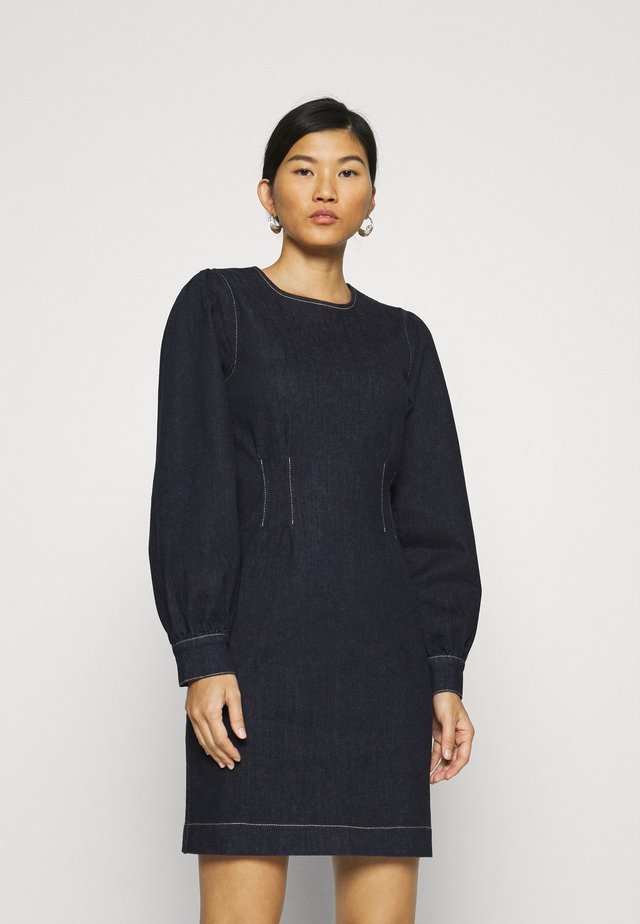 ANTOINET DRESS - Spijkerjurk - dark blue denim
