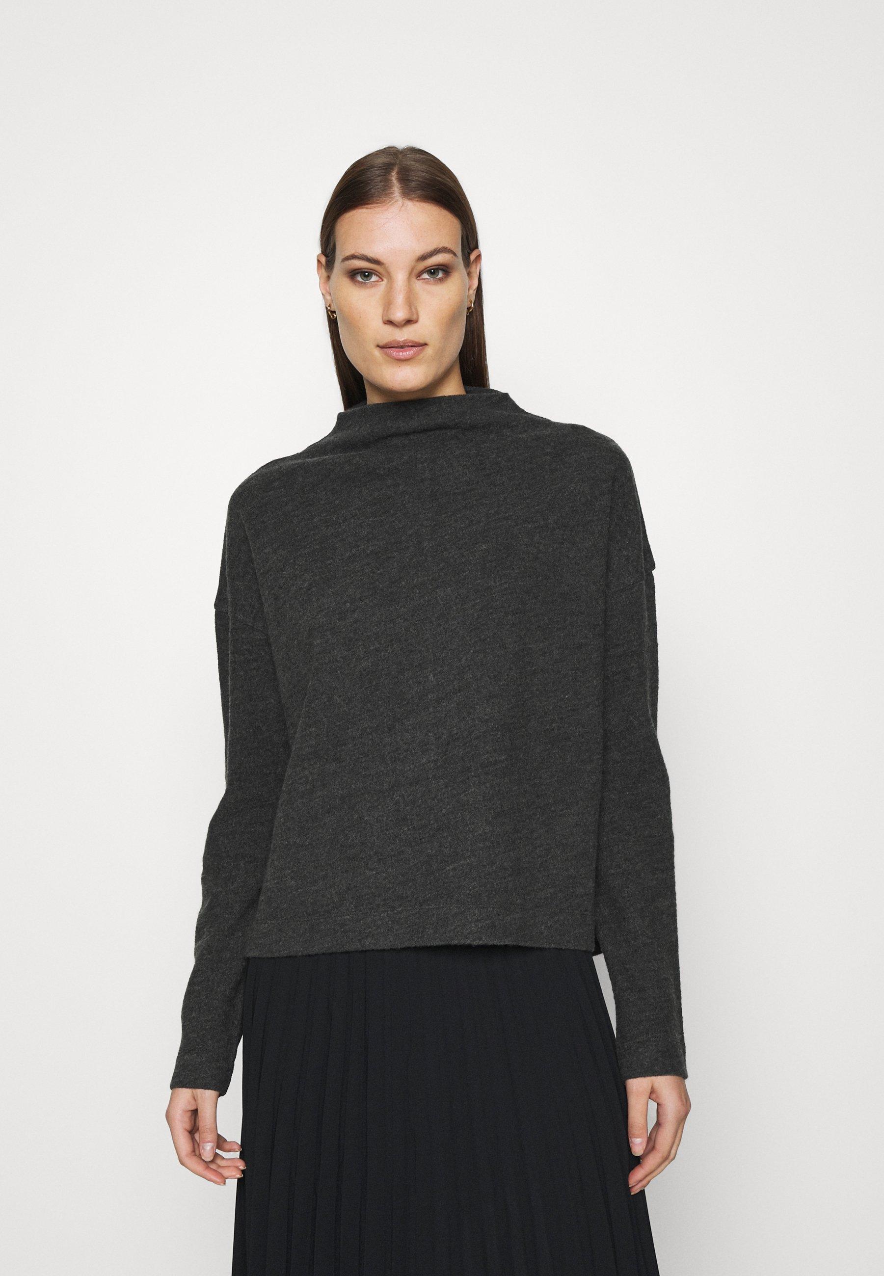Femme KNIT - TURTLENECK - Pullover - grey dark