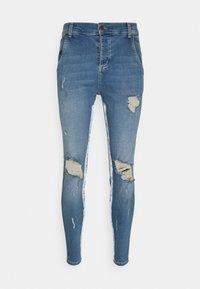 SIKSILK - SKINNY DISTRESSED PAINT - Jeans Skinny Fit - midstone/white - 3