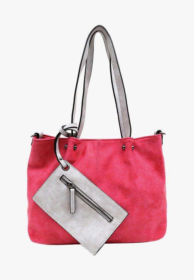 Shopping bag - pink/grey