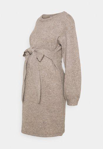 MLGRO DRESS - Sukienka dzianinowa - silver mink melange
