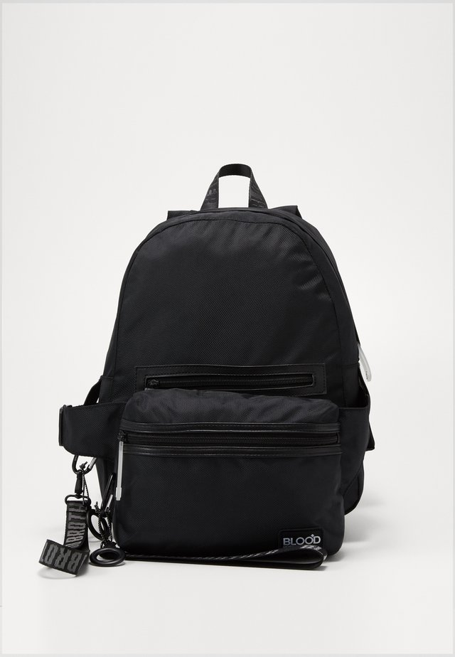 BACKPACK WITH HIPBAG - Reppu - black