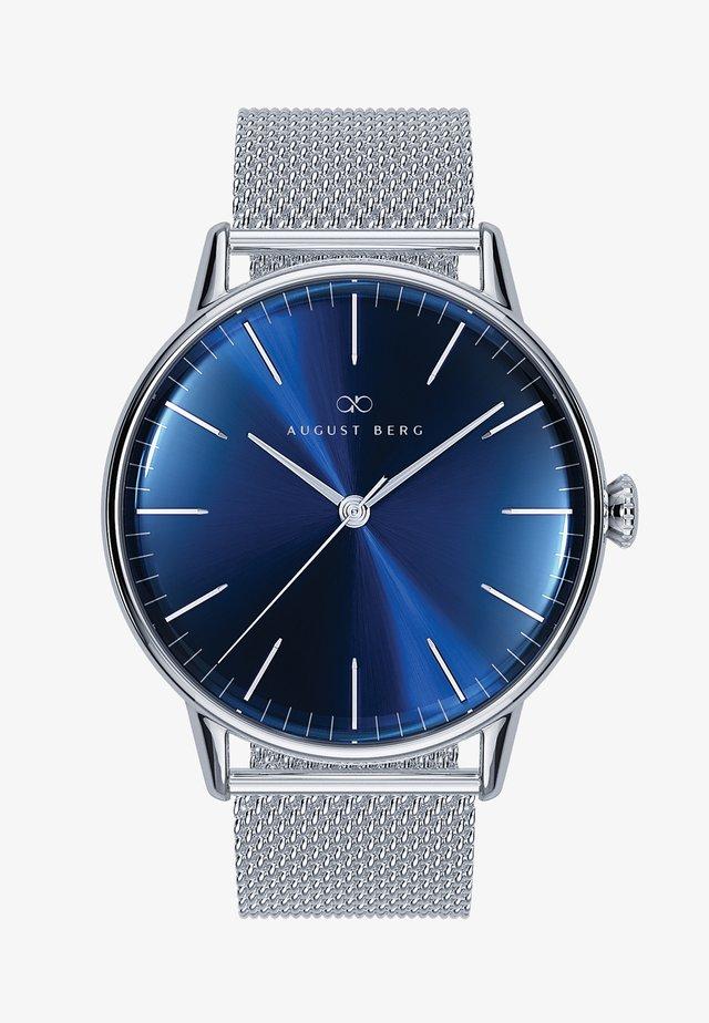 UHR SERENITY DEEP BLUE SILVER SILVER MESH 40MM - Horloge - sunray blue