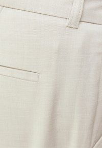 Bershka - WIDE FIT - Trousers - sand - 5