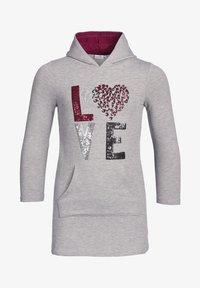 "happy girls - ""LOVE"" - Day dress - grey melange - 0"
