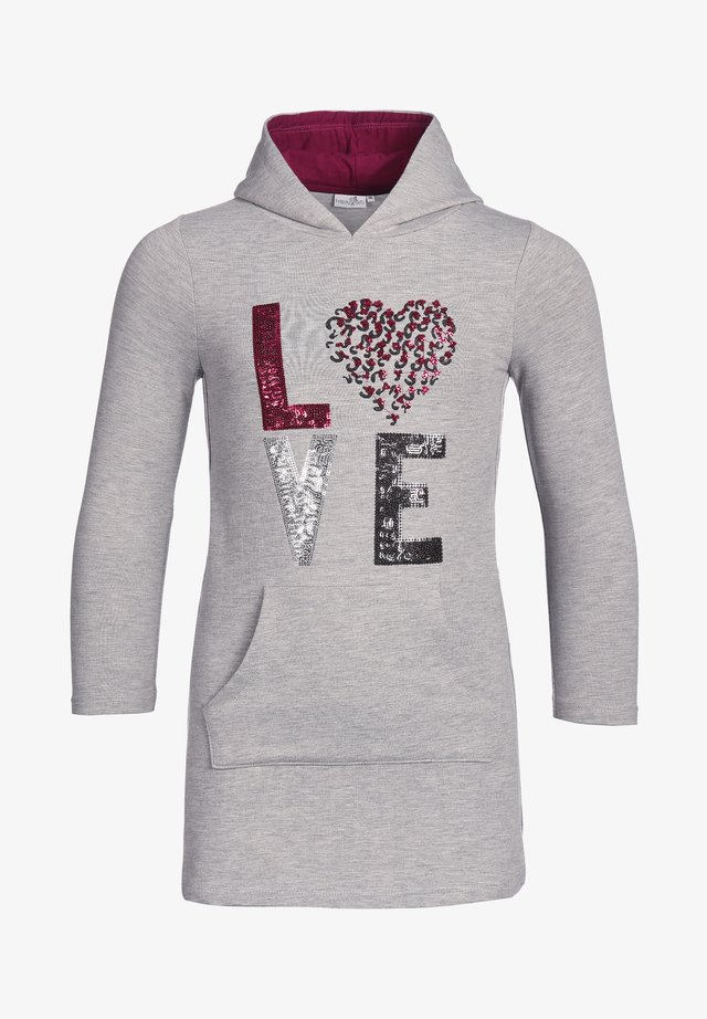 """LOVE"" - Day dress - grey melange"
