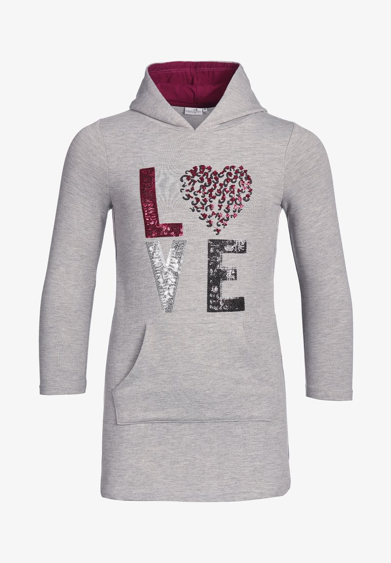 "happy girls - ""LOVE"" - Day dress - grey melange"