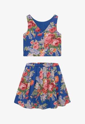 FLORAL SET - A-line skirt - blue/multicolor
