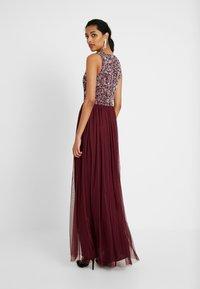 Lace & Beads Tall - PICASSO - Společenské šaty - burgundy - 3