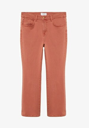 MARTINA - Bootcut jeans - bräunliches orange