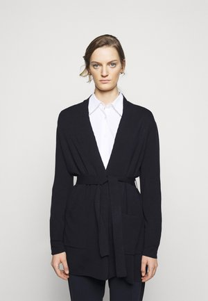 BELTED CARDIGAN - Strickjacke - navy