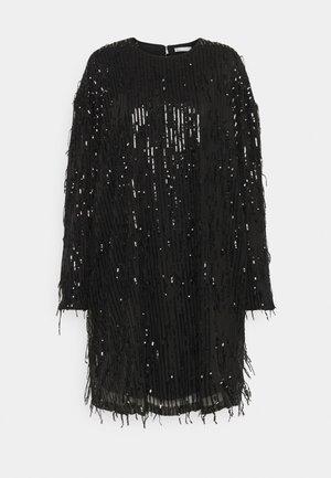 FRINGE DRESS - Cocktailkjole - black
