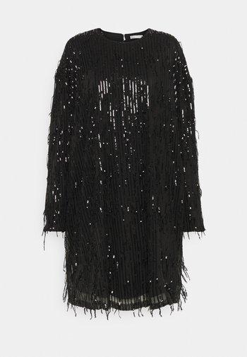 FRINGE DRESS - Sukienka koktajlowa - black