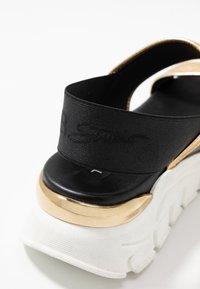 Tosca Blu - PONZA - Korkeakorkoiset sandaalit - nero/platino - 2