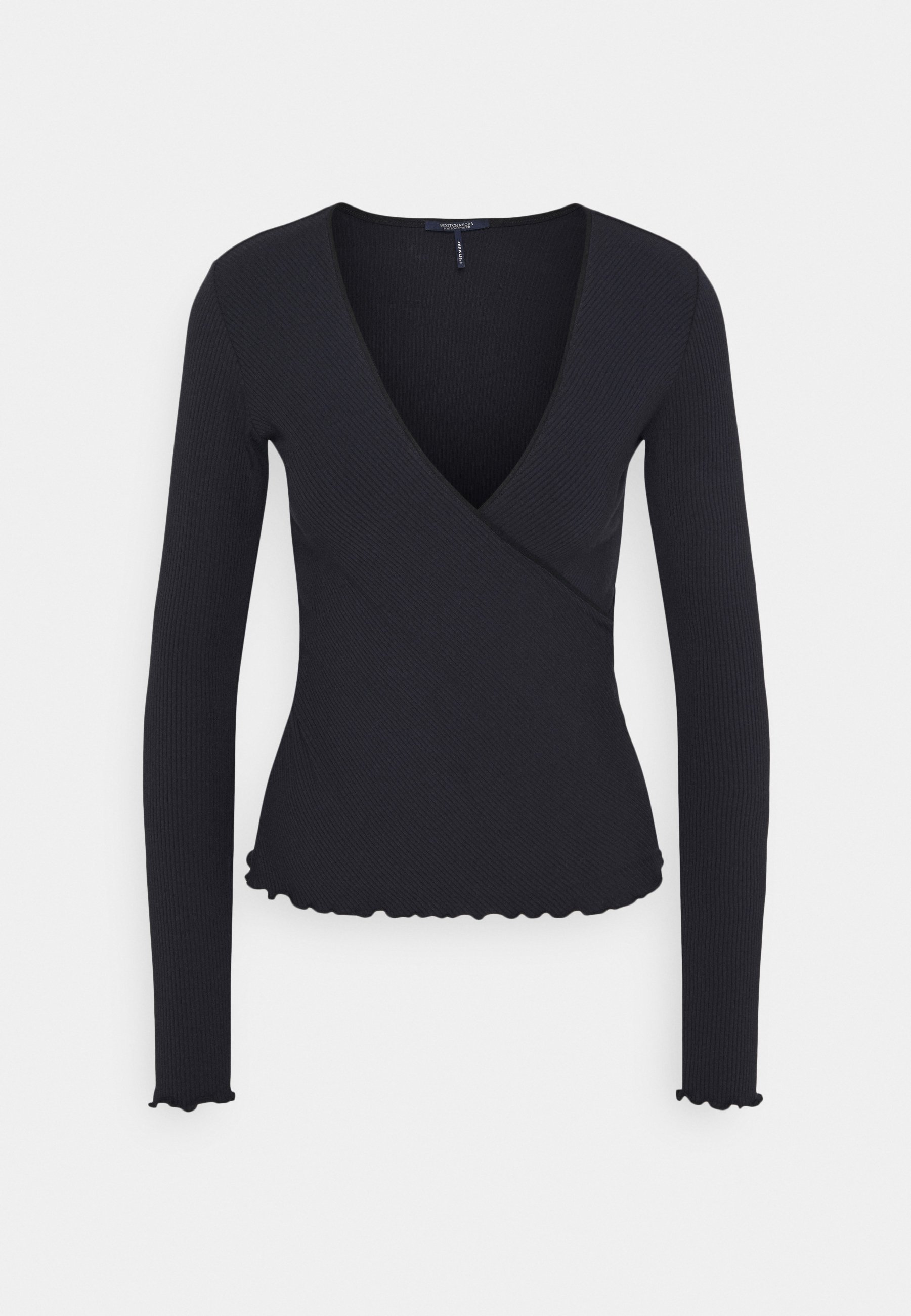 Women WRAP OVER - Long sleeved top