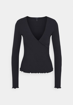 WRAP OVER - Long sleeved top - night